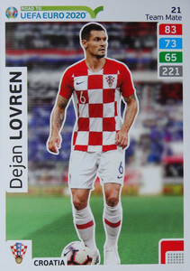 ROAD TO EURO 2020 TEAM MATE Dejan Lovren 21