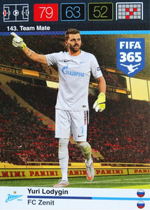 2016 FIFA 365 TEAM MATE FC ZENIT Yuri Lodygin #143