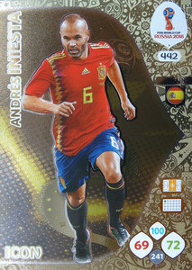 WORLD CUP RUSSIA 2018 ICON HISZPANIA INIESTA 442