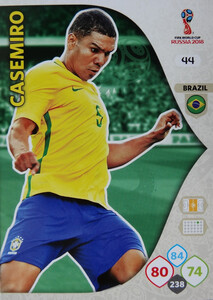 WORLD CUP RUSSIA 2018 BRAZYLIA TEAM CASAMIRO 44
