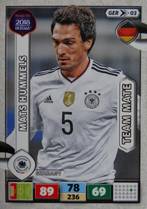 ROAD TO RUSSIA 2018 FIFA TEAM MATE  NIEMCY  HUMMELS 03