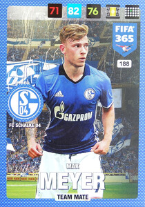 2017 FIFA 365 TEAM MATE Max Meyer #188