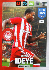 2017 FIFA 365 TEAM MATE Brown Ideye #198