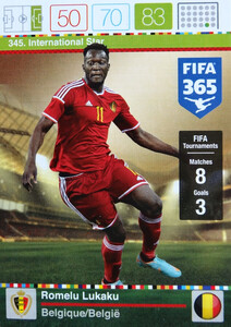 2016 FIFA 365 INTERNATIONAL STAR Romelu Lukaku #345
