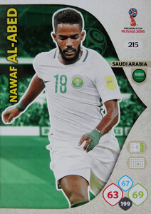 WORLD CUP RUSSIA 2018 TEAM MATE ARABIA SAUDYJSKA  AL-ABED 215