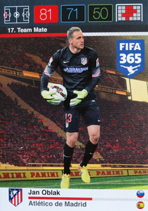 2016 FIFA 365 TEAM MATE ATLETICO de MADRID  Jan Oblak #17