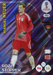 WORLD CUP RUSSIA 2018 GOAL STOPPER NEUER 412