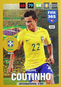 2017 FIFA 365 NATIONAL TEAM Philippe Coutinho #332