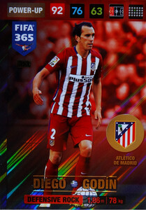 2017 FIFA 365 DEFENSIVE ROCK  Diego Godin #353