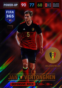 2017 FIFA 365 DEFENSIVE ROCK Jan Vertonghen #356