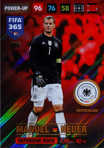 2017 FIFA 365 DEFENSIVE ROCK  Manuel Neuer #357