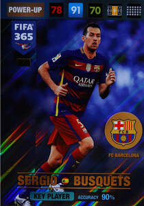 2017 FIFA 365 KEY PLAYER Sergio Busquets #361