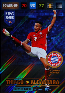2017 FIFA 365 KEY PLAYER Thiago Alcántara #363