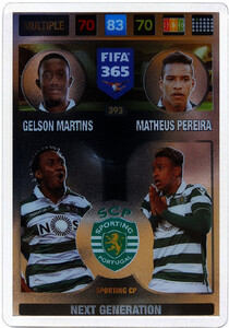 2017 FIFA 365 NEXT GENERATION Gelson Martins / Matheus Pereira #393