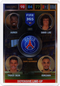 2017 FIFA 365 DEFENSIVE LINE - UP Aurier / David Luiz / Thiago Silva / Kurzawa #397