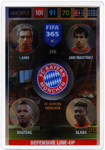 2017 FIFA 365 DEFENSIVE LINE - UP Lahm / Javi Martinez / Boateng / Alaba #398
