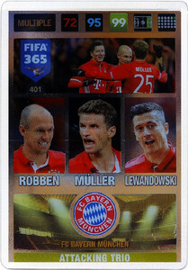2017 FIFA 365 ATTACKING TRIO 	Robben / Müller / Lewandowski #401
