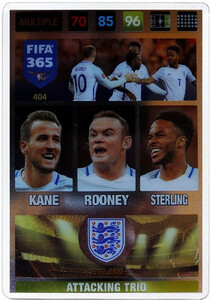 2017 FIFA 365 ATTACKING TRIO Kane / Rooney / Sterling #404