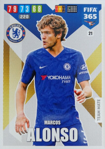 2020 FIFA 365 TEAM MATE Marcos Alonso #21