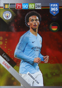 2019 FIFA 365 GERMAN STAR Leroy Sane #397