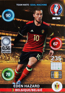 EURO 2016 TEAM MATE / GOAL MACHINE Eden Hazard #36