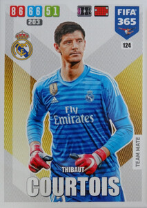 2020 FIFA 365 TEAM MATE Thibout Courtois #124