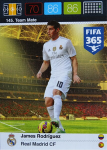 2016 FIFA 365 TEAM MATE REAL MADRID CF James Rodriguez #145