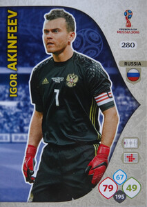 WORLD CUP RUSSIA 2018 TEAM MATE ROSJA AKINFEEV 280