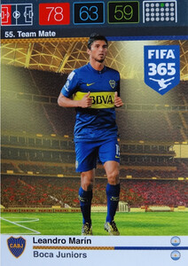 2016 FIFA 365 TEAM MATE BOCA JUNIORS Leandro Marin #55
