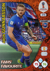 WORLD CUP RUSSIA 2018 FANS FAVOURIT GUNNARSSON 378