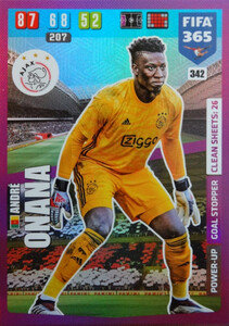 2020 FIFA 365 POWER UP GOAL STOPPER  André Onana #342
