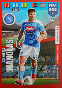 2020 FIFA 365 POWER UP DEFENSIVE Kostas Manolas #351