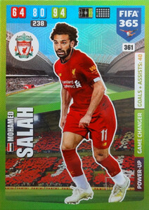 2020 FIFA 365 POWER UP GAME CHANGERS Mohamed Salah  #361