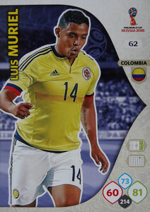 WORLD CUP RUSSIA 2018 KOLUMBIA TEAM MURIEL 62