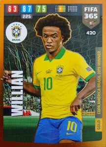 FIFA 365 2020 GOLD Copa America Brasil 2019 WINNER Willian #420