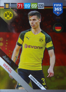 2019 FIFA 365 GERMAN STAR Julian Weigl #408