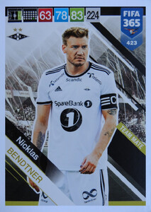 FIFA 365 2019 NORDIC TEAM MATE Nicklas Bendtner #423