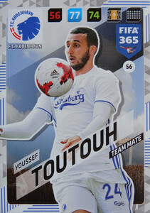 FIFA 365 2018 NORDIC TEAM MATE Youssef Toutouh #56