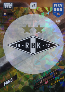 FIFA 365 2018 NORDIC LOGO CLUB BADGE Rosenborg BK #244