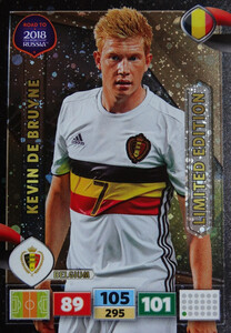 ROAD TO RUSSIA 2018 LIMITED 	Kevin de Bruyne