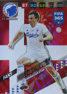 FIFA 365 2018 NORDIC SCANDINAVIAN STAR William Kvist #461