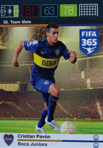 2016 FIFA 365 TEAM MATE BOCA JUNIORS Cristian Pavón #56