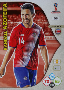 WORLD CUP RUSSIA 2018 COSTA RICA TEAM MATE AZOFEIFA 68