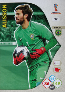 WORLD CUP RUSSIA 2018 BRAZYLIA TEAM ALISSON 37