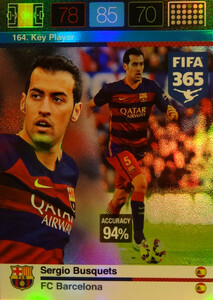 2016 FIFA 365 KEY PLAYER Sergio Busquets #164