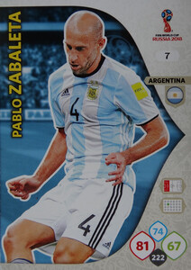 WORLD CUP RUSSIA 2018 ARGENTYNA TEAM ZABALETA 7