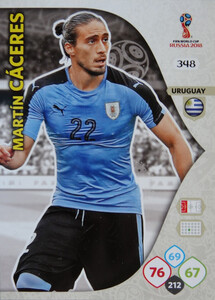 WORLD CUP RUSSIA 2018 TEAM MATE URUGWAJ CACERES 348