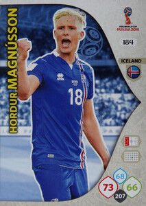 WORLD CUP RUSSIA 2018 TEAM MATE ISLANDIA MAGNUSSON 184