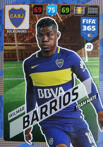 2018 FIFA 365 TEAM MATE Wilmar Barrios #22