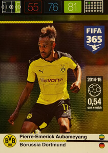 2016 FIFA 365 GOAL MACHINE Pierre-Emerick Aubameyang #175